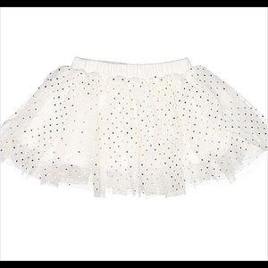 Toddler TuTu Skirt White and Gold NWT